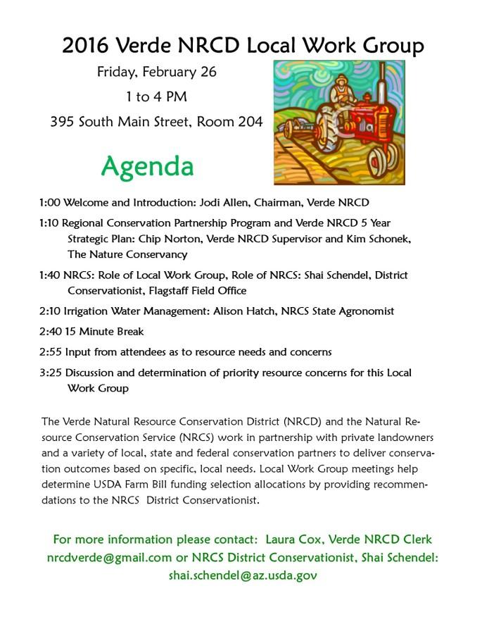 Local Work Group Agenda